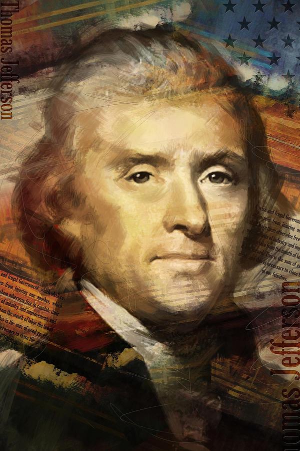 Thomas Jefferson Painting - Thomas Jefferson by Corporate Art Task Force