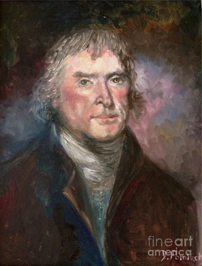 Thomas Painting - Thomas Jefferson by Irene Pomirchy