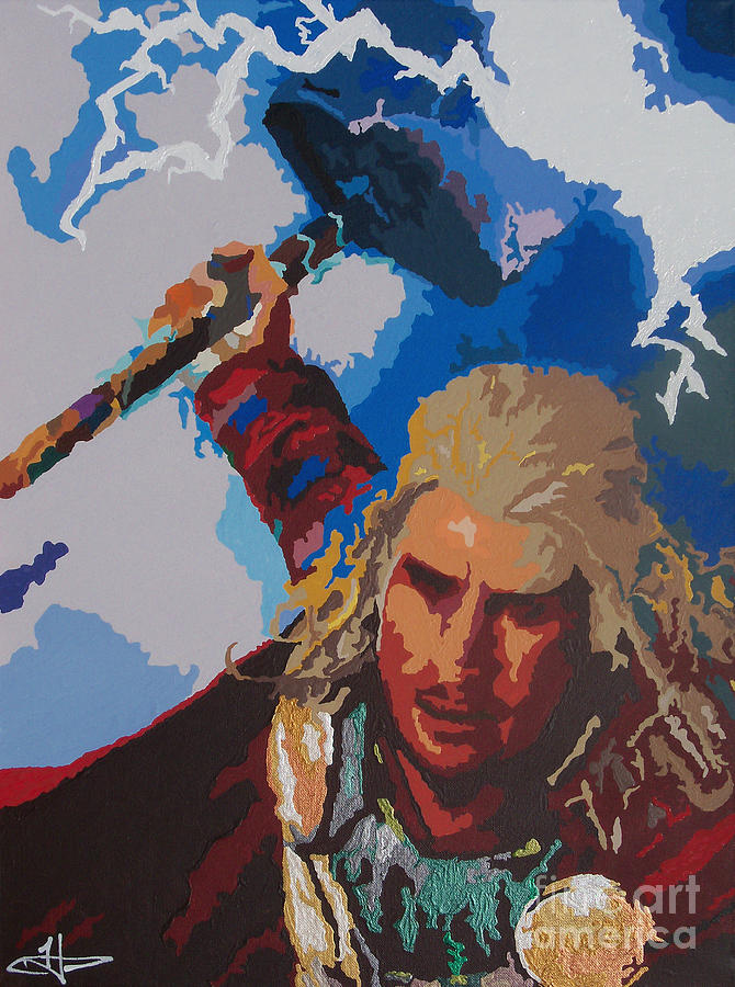 Thor - Bring The Thunder Painting