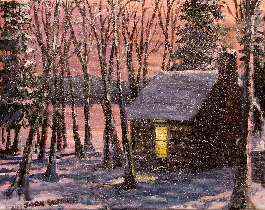 Thoreaus Cabin Painting