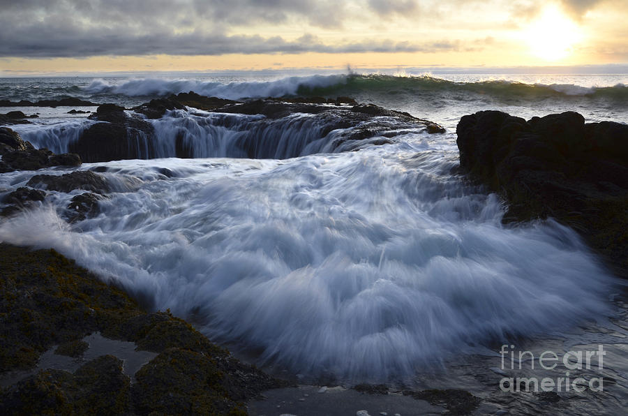 Thors Well 2 Photograph  - Thors Well 2 Fine Art Print