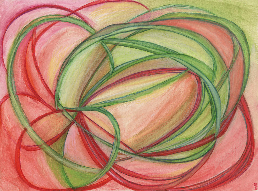 Flower Drawing - Thoughts Create by Kelly K H B