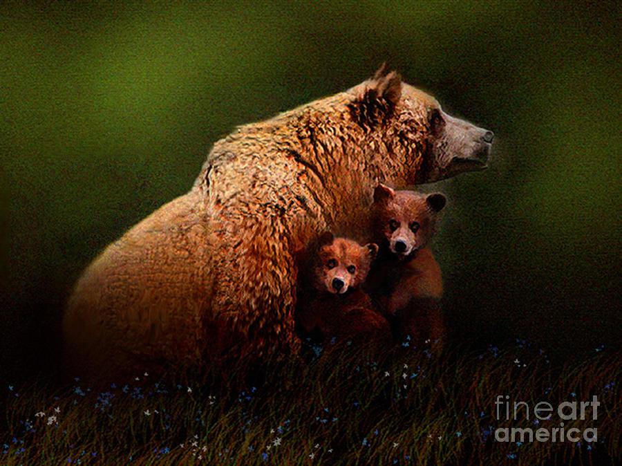 Three Bears Painting