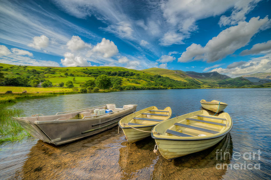 British Photograph - Three Boats by Adrian Evans