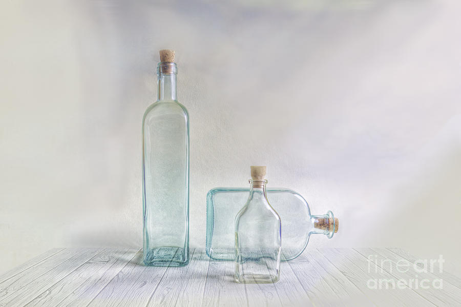 Art Photograph - Three Bottles by Veikko Suikkanen