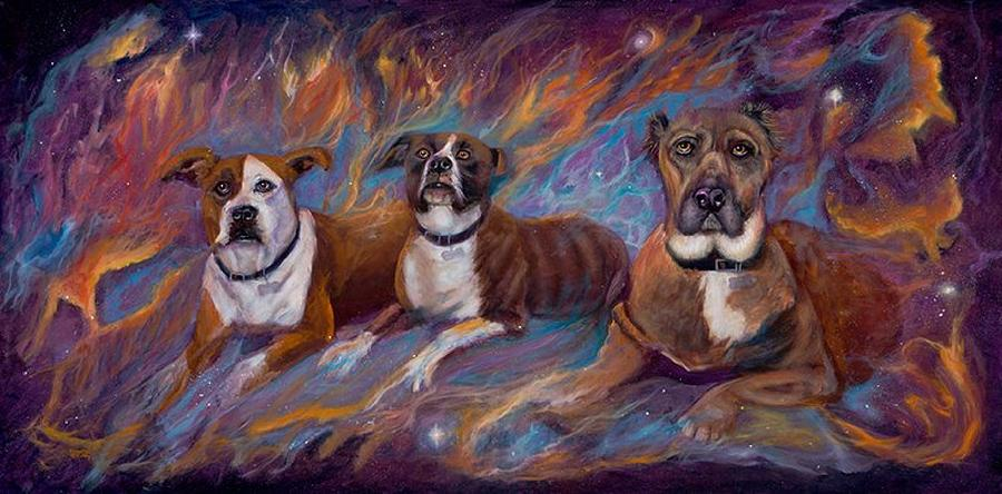 Curvismo Painting - If Dogs Go To Heaven by Sherry Strong