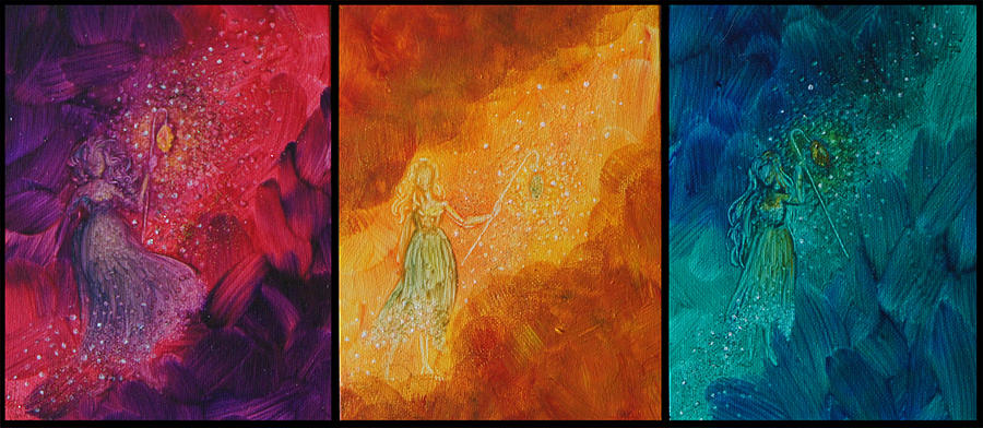 Fates Painting - Three Fates by Jaime Andrews