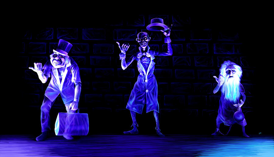 Three Hitchhiking Ghosts Painting