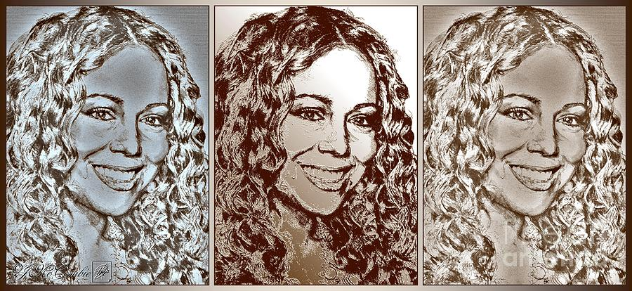 Three Interpretations Of Mariah Carey Digital Art  - Three Interpretations Of Mariah Carey Fine Art Print