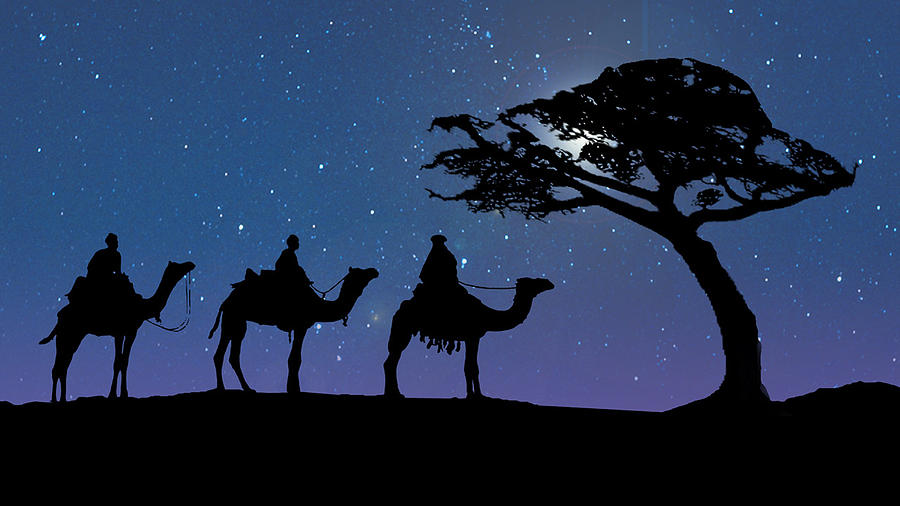 Christmas Digital Art - Three Kings by Schwartz