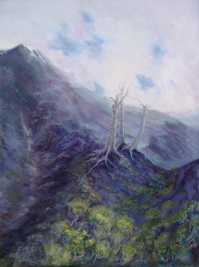 Mountains Painting - Three Prophets by Charles Smith
