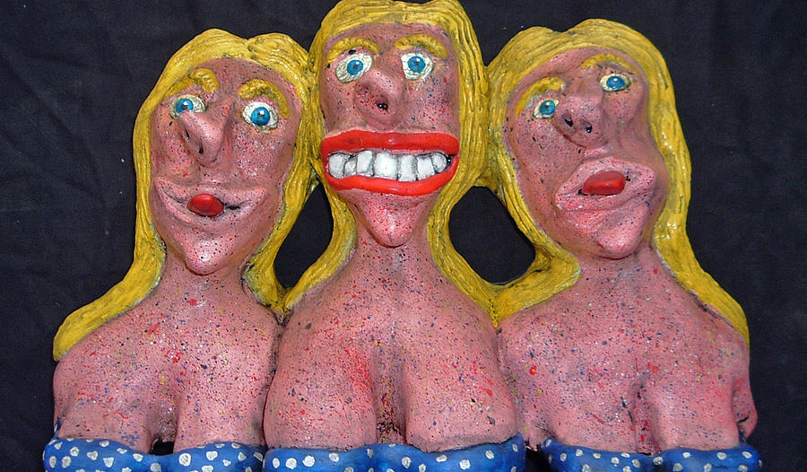 Sculpture Sculpture - Three Sisters by Charles Spillar