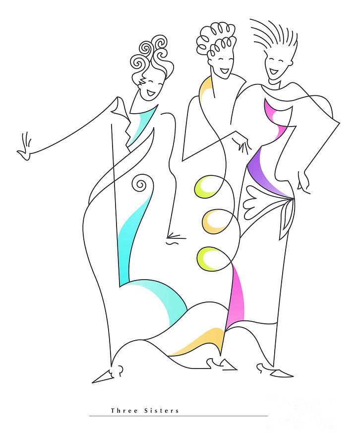 Three Sisters Drawing