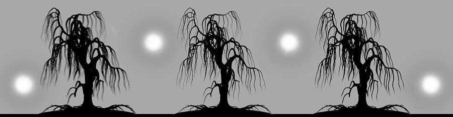 Three Trees Digital Art