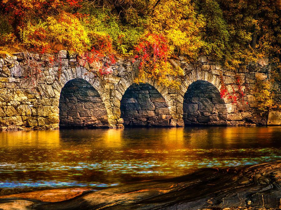 Autumn Photograph - Three Tunnels by Bob Orsillo