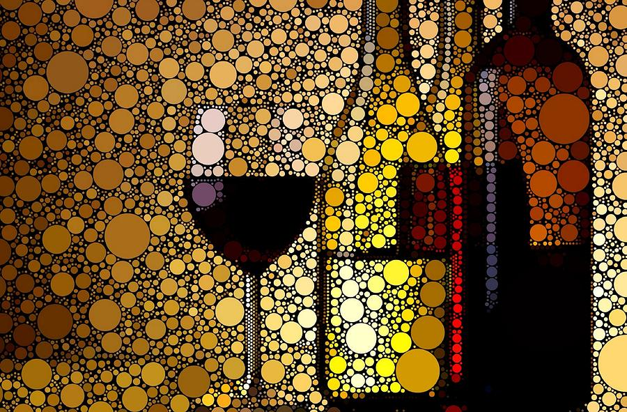 Three Wines Digital Art  - Three Wines Fine Art Print
