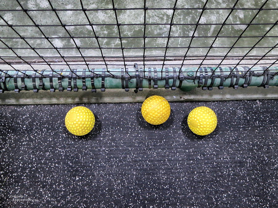 Three Yellow Balls Photograph