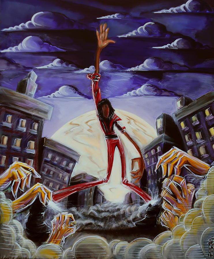 Thriller Painting - thriller V3 by Tu-Kwon Thomas