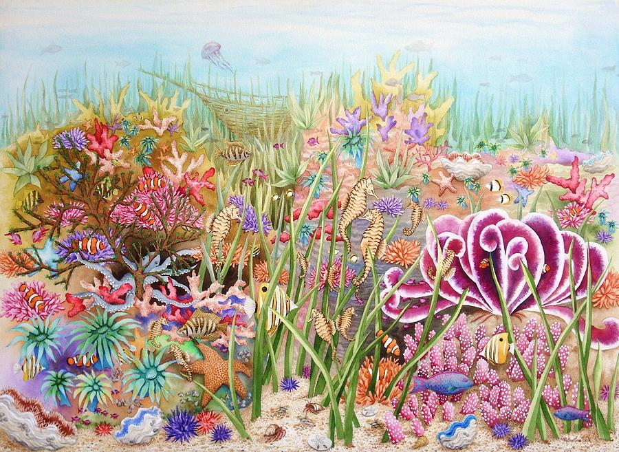 Print Painting - Thriving Ocean  by Katherine Young-Beck
