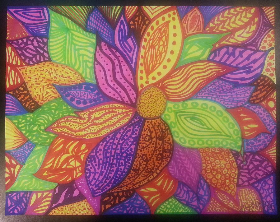 Drawing - Through My Eyes by Felicia Anguiano