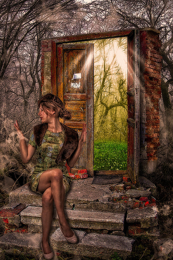 Art Photograph - Through The Forest Door by Erik Brede
