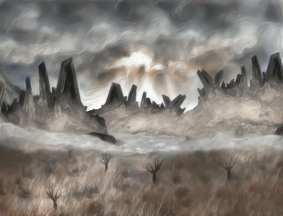 Through The Mist Painting