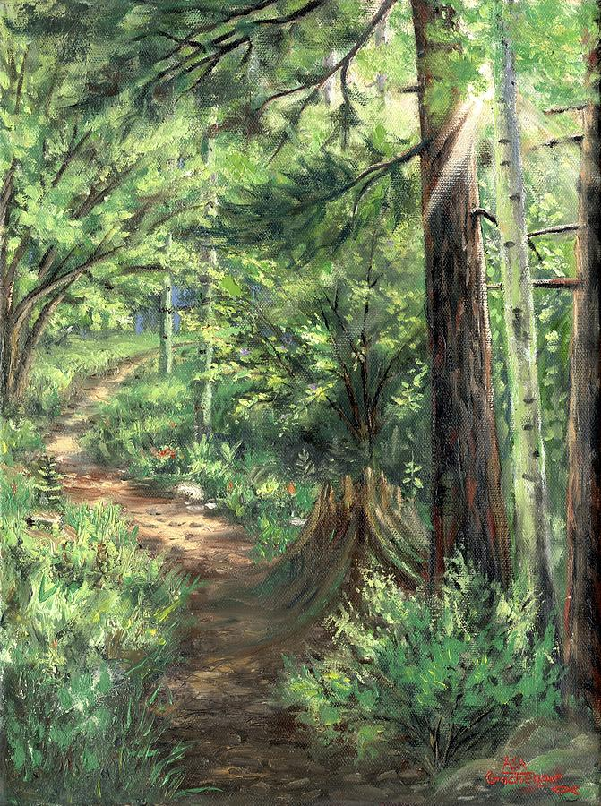 Trail In Spring Painting