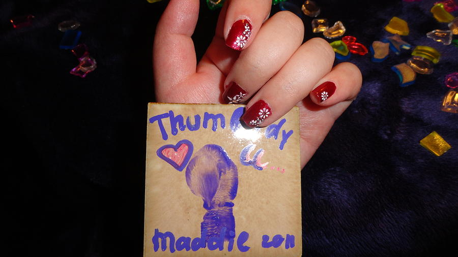 Painting - Thumbody Loves You by Madigan Lang