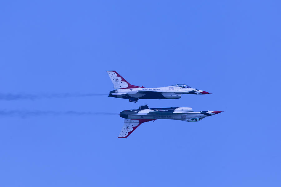Thunderbirds Solos 6 Over 5 Inverted Photograph