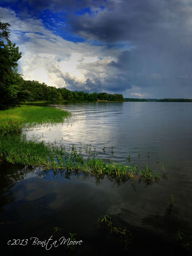 Lake Photograph - Thunderstorm On The Water by Bonita Moore
