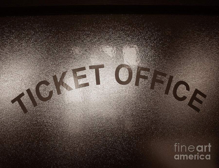 Ticket Photograph - Ticket Office Window by Olivier Le Queinec