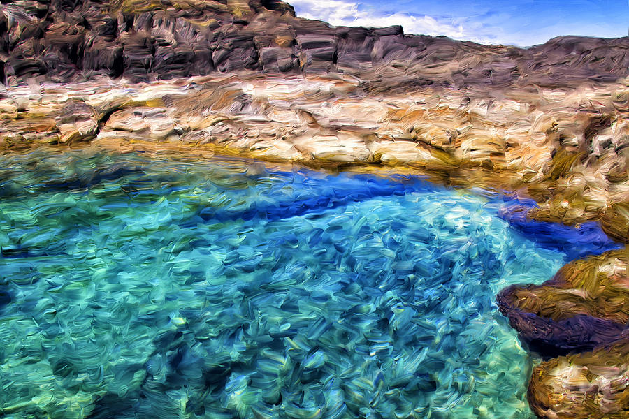 Tide Pool On Molokai Painting By Dominic Piperata