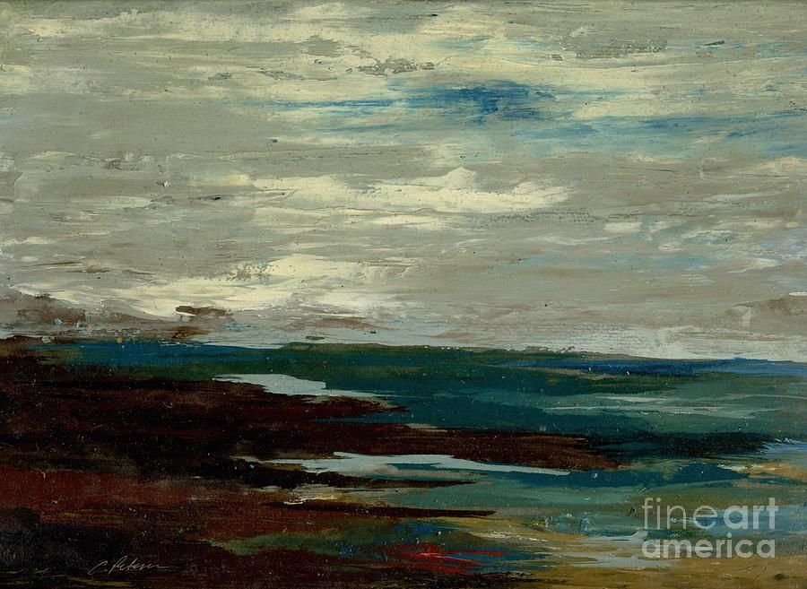 Tide Pools At The Rincon Seashore  Painting
