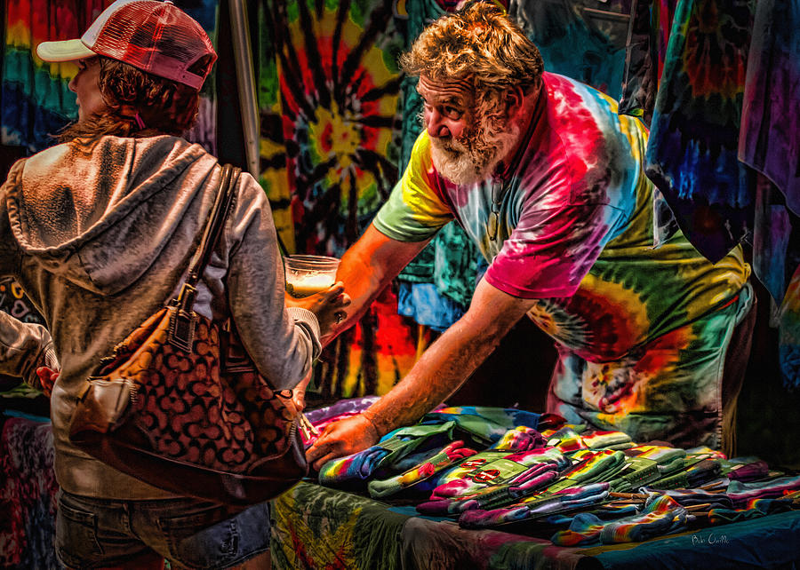 Tie Dye Guy Photograph  - Tie Dye Guy Fine Art Print