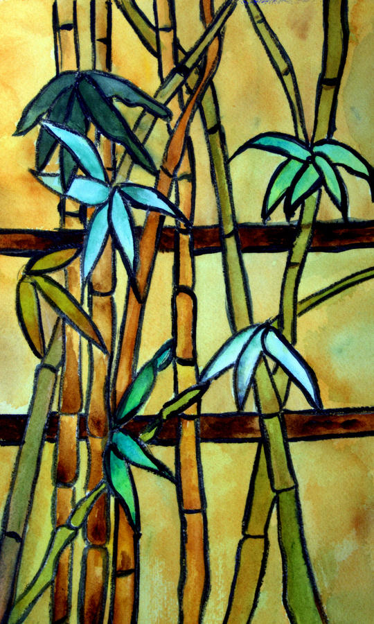 Watercolor Stained Glass Tree Painting