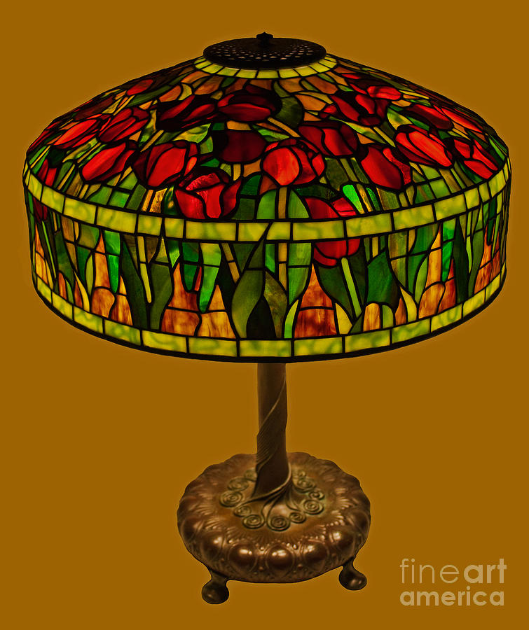 Tiffany Tulip Lamp Glass Art