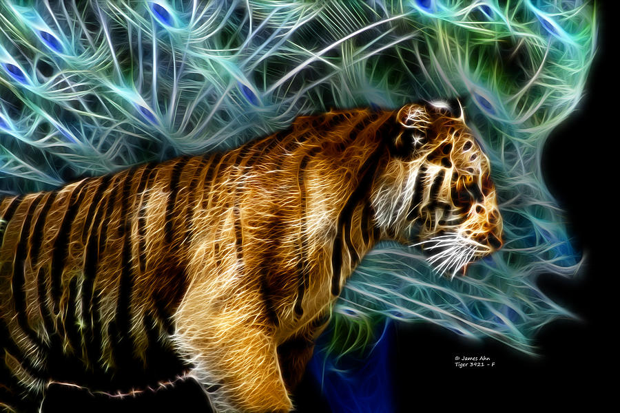 Tiger 3921 - F Digital Art