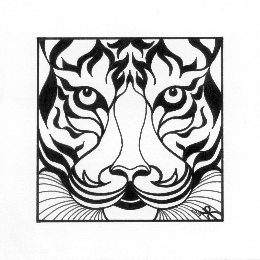 tiger face coloring page - tiger face coloring