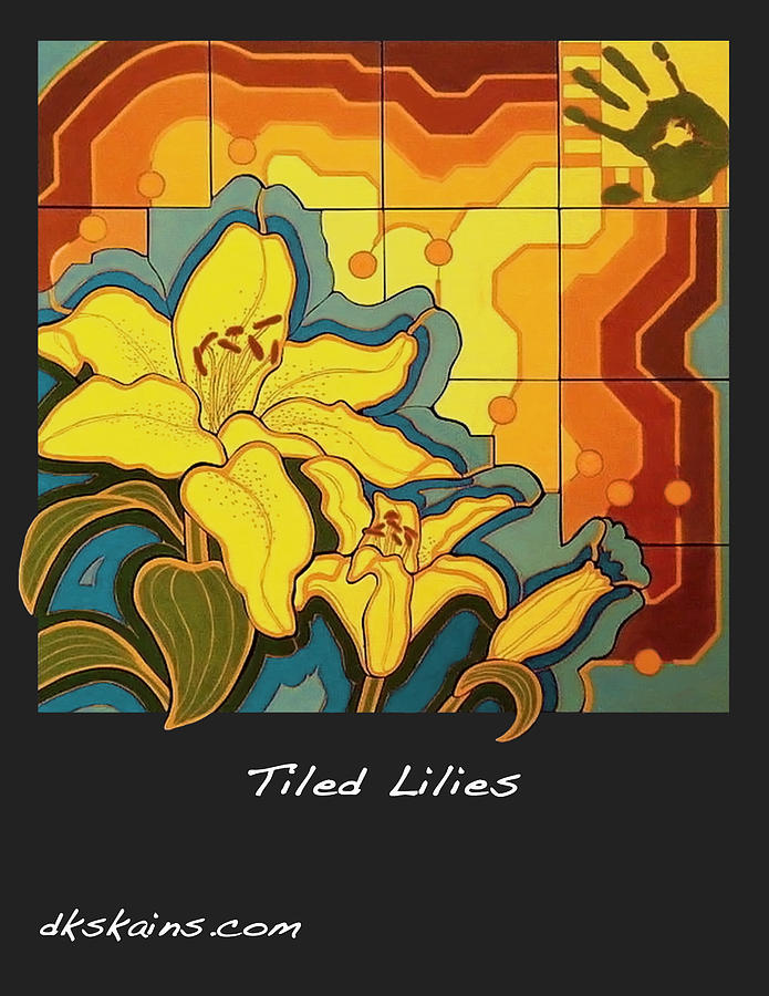 Tiled Lilies Ceramic Art