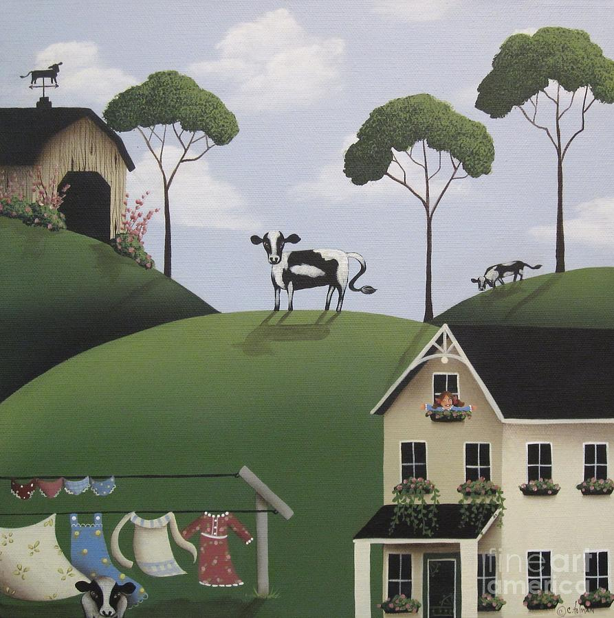 Art Painting - Till The Cows Come Home by Catherine Holman