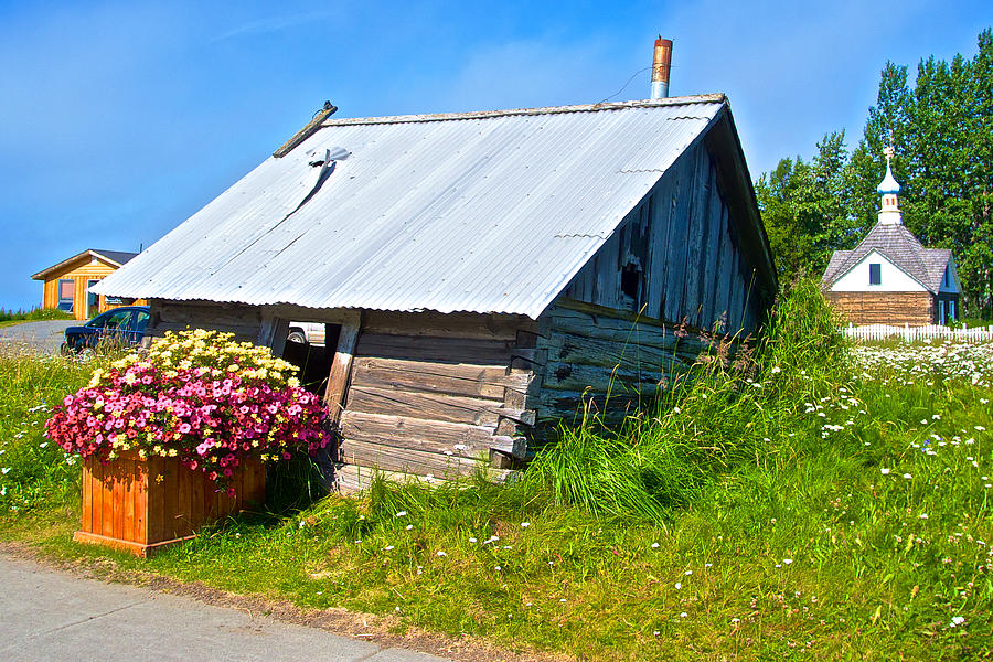 Tilted Shed In Old Town Kenai-ak Photograph