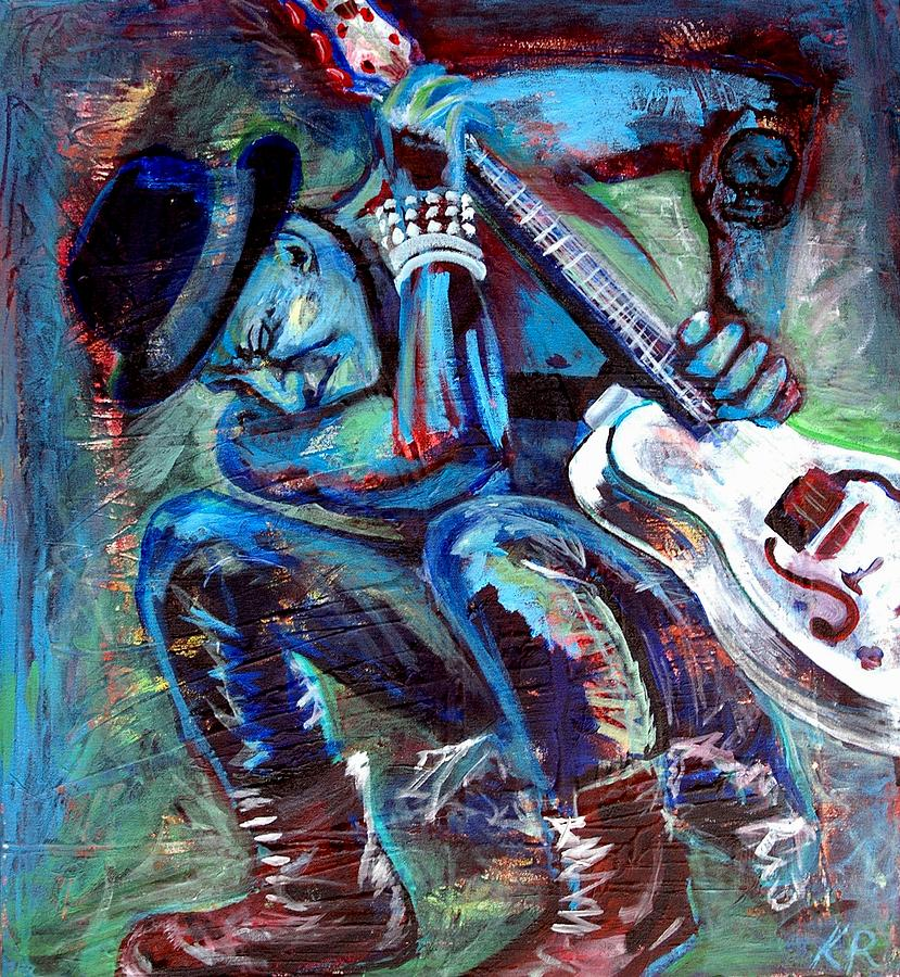 Tim Armstrong And Gretsch  Painting  - Tim Armstrong And Gretsch  Fine Art Print