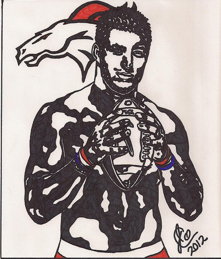 Tim Tebow 2 Drawing