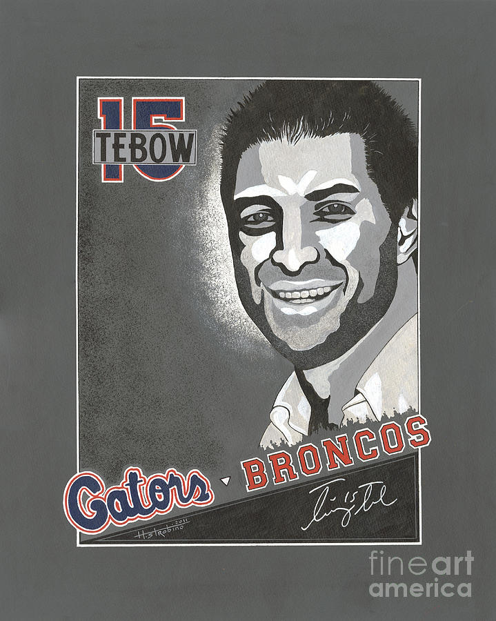 Tim Tebow Portrait Painting  - Tim Tebow Portrait Fine Art Print