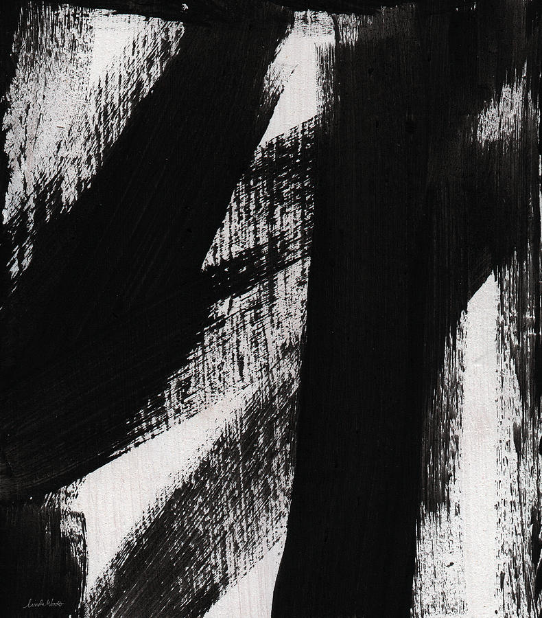 timber vertical abstract black and white painting
