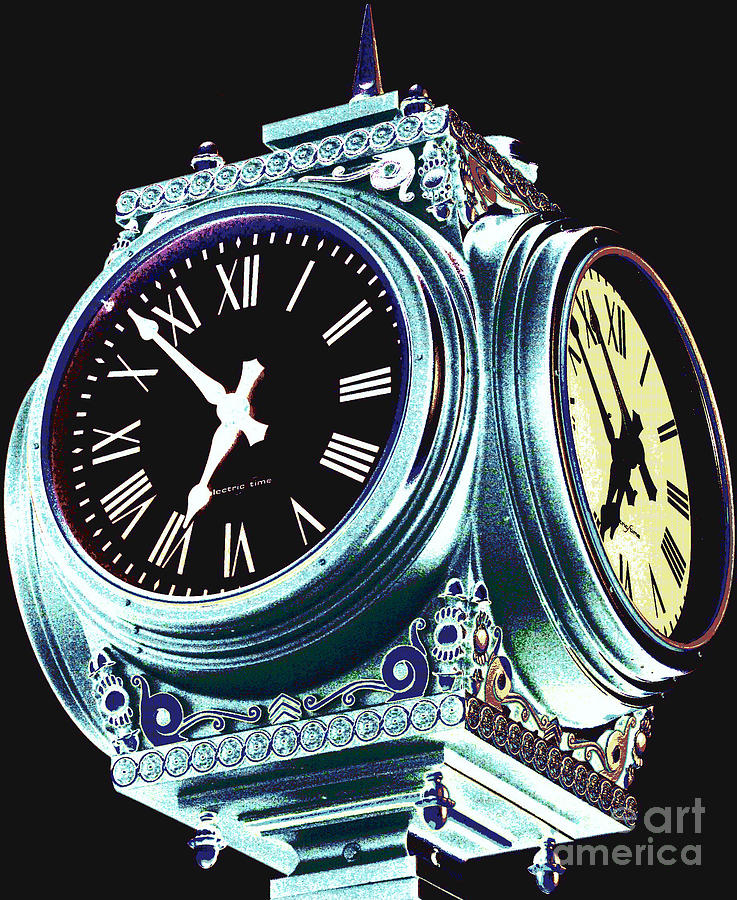 Clocks Photograph - Time by Colleen Kammerer