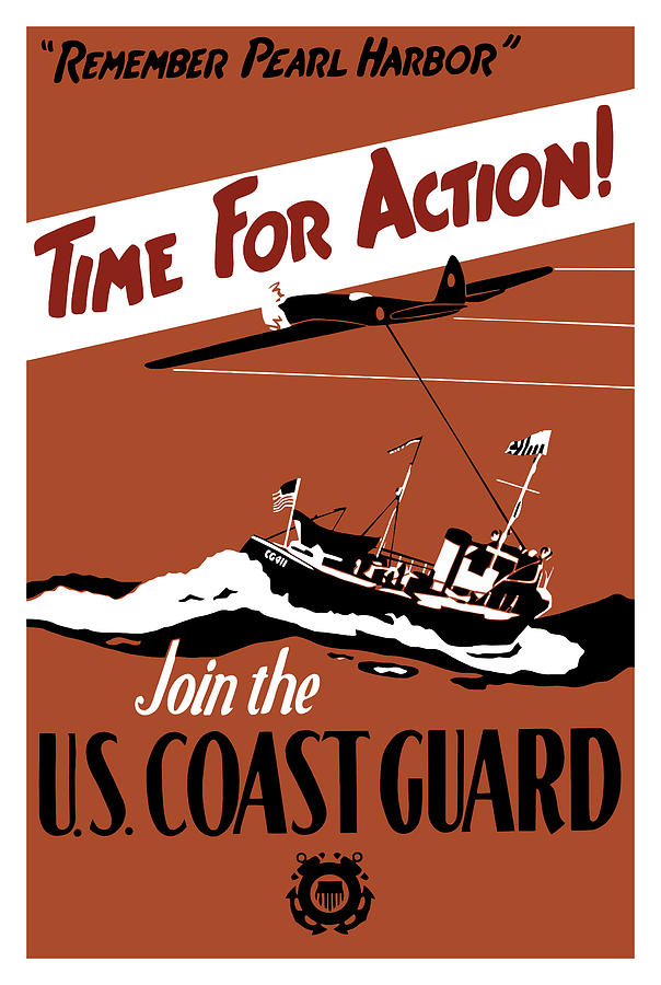 Time For Action Join The Us Coast Guard Painting