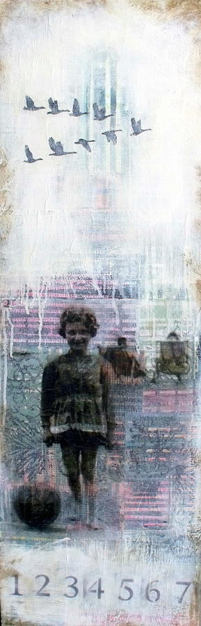 Sky Mixed Media - Time Is A Thief by Susan McCarrell