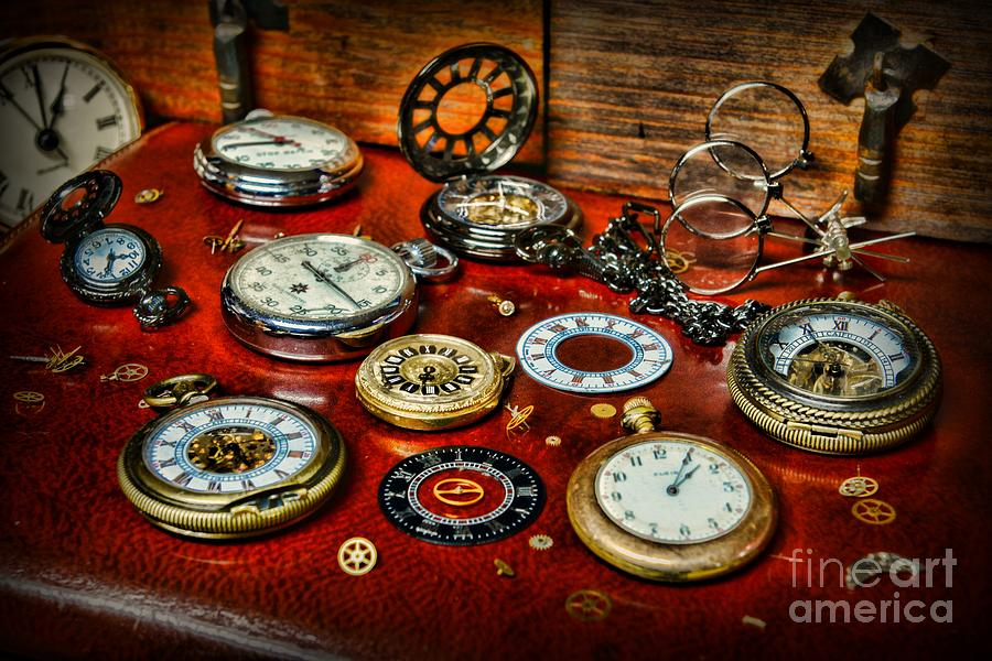 Paul Ward Photograph - Time - Pocket Watches  by Paul Ward