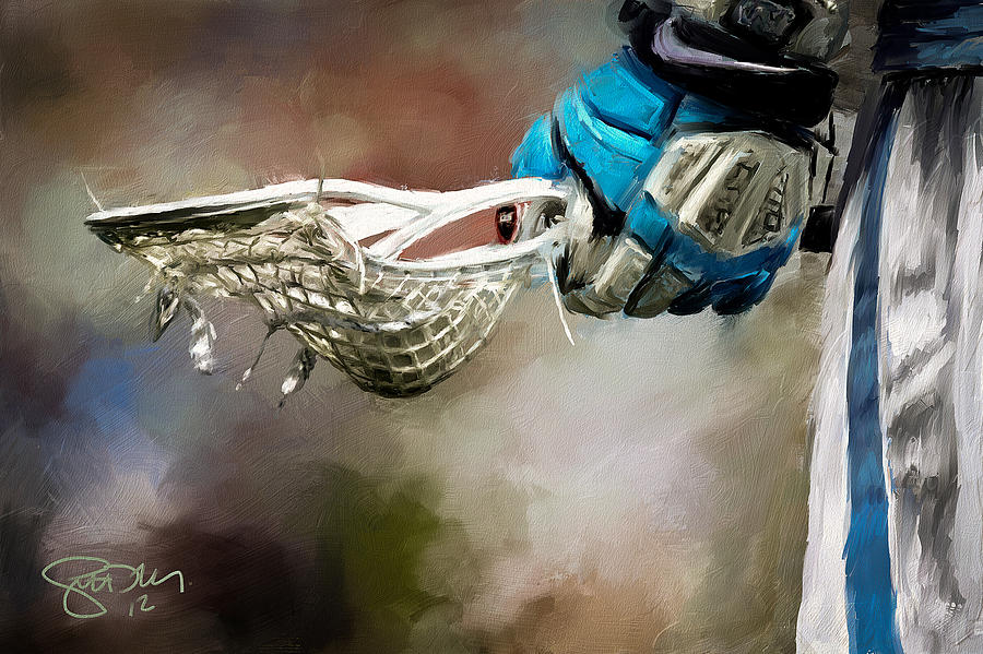 Lacrosse Painting - Time To Play by Scott Melby